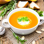 Butternut Squash Soup with Celery and Carrots