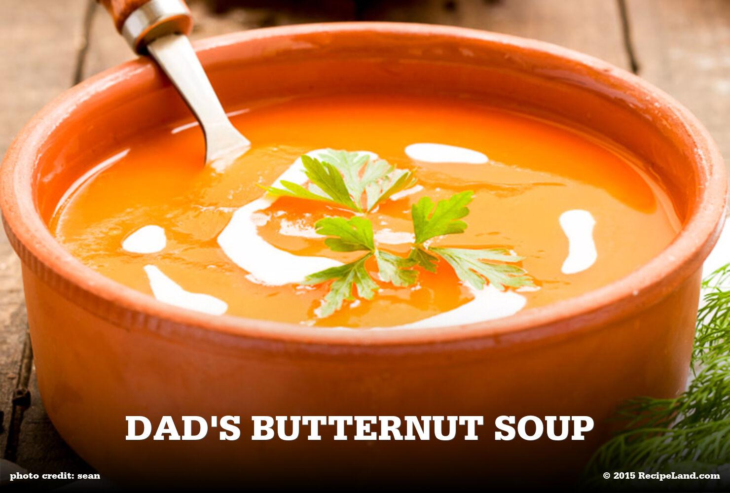 Dad's Butternut Soup