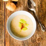 Baked Potato Soup with Bacon and Sour Cream
