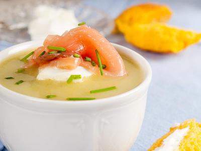 Chef Andrew Berman's Potato-Horseradish Soup