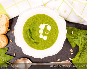 Chilled Spinach Yogurt Soup
