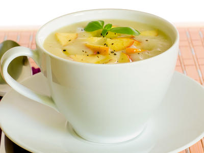 Mom's Apple-Onion Soup with Celery Root