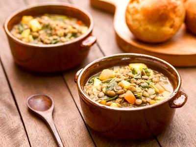 Vegetable Soup with Lentils (Vegan)