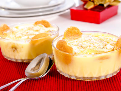 Moms' Banana Custard Pudding