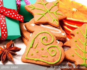 Dark Molasses Gingerbread Cookies