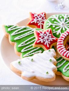 Molded Christmas Cookies