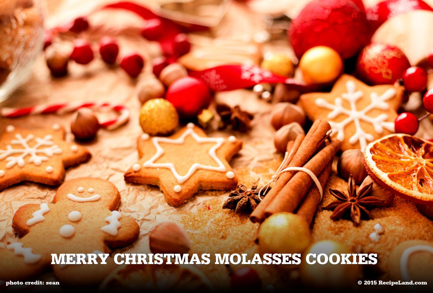 Merry Christmas Molasses Cookies