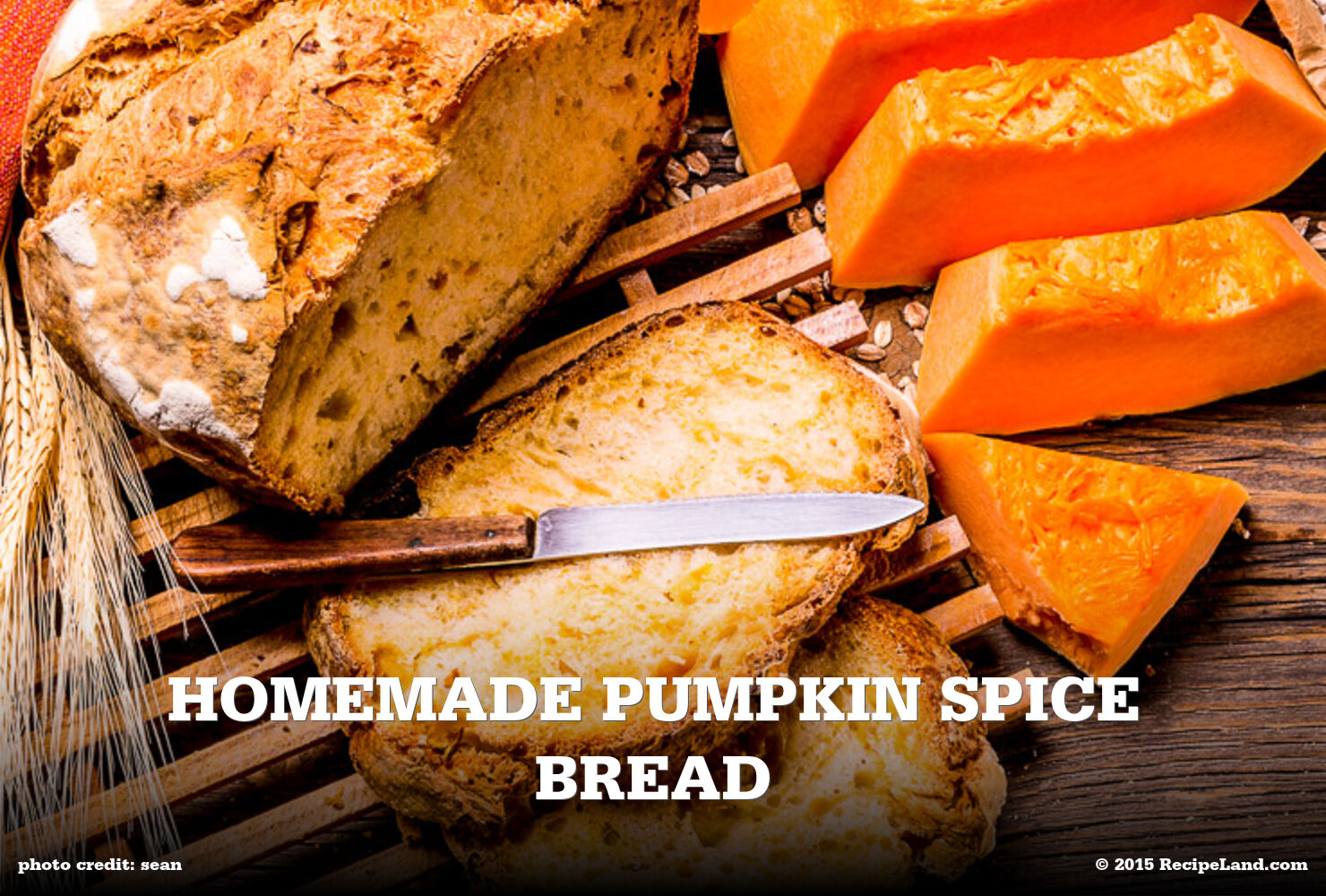 Homemade Pumpkin Spice Bread