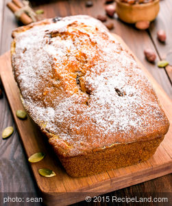 Pumpkin and Nut Spice Bread