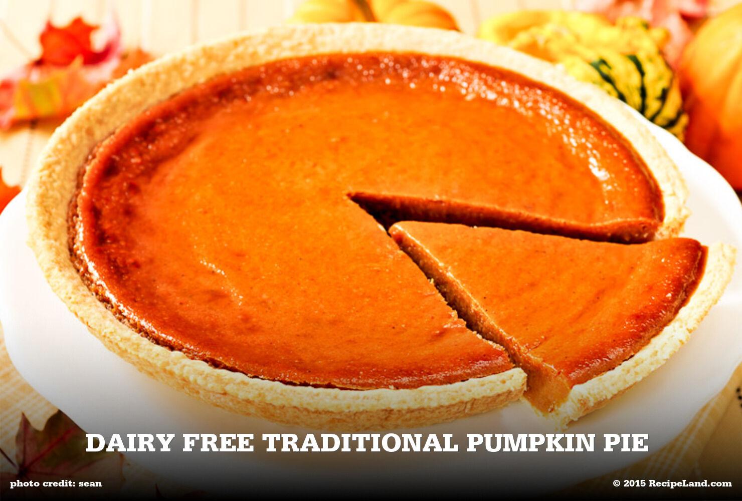 Dairy Free Traditional Pumpkin Pie