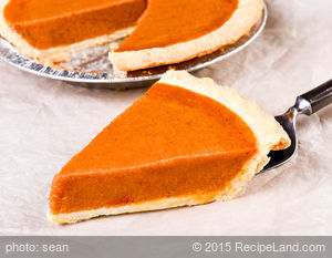 Yummy Low-Fat Pumpkin Pie