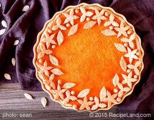 Maple leaf Pumpkin Pie