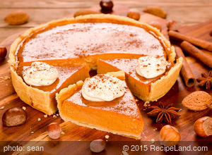 Delicious Thanksging Pumpkin Pie