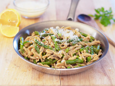 Pasta with Spring Asparagus and Peas