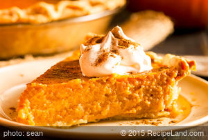 Very Moist Pumpkin Pie