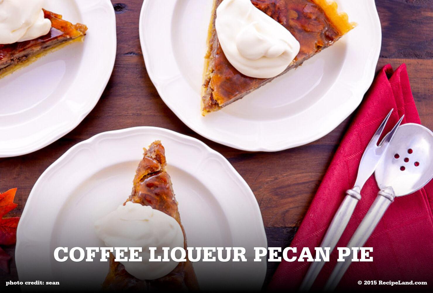Coffee Liqueur Pecan Pie