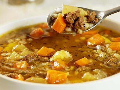 Ground Beef Barley Soup