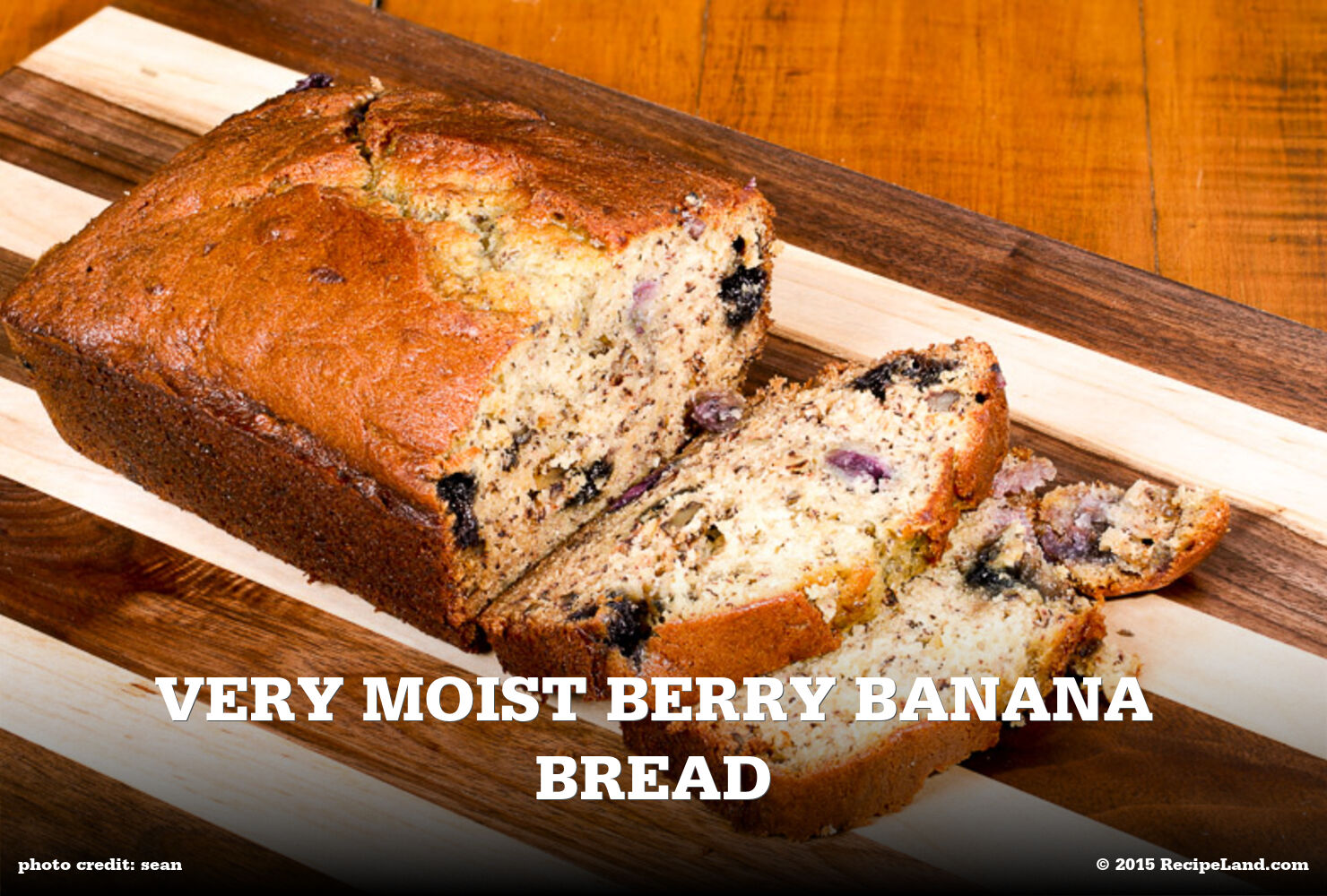Very Moist Berry Banana Bread