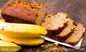 Oatmeal Banana and Walnut Bread