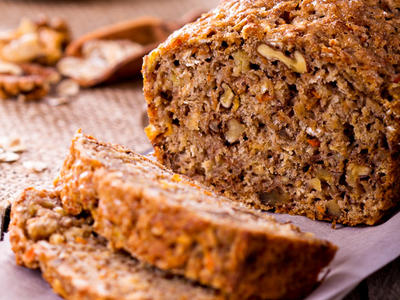 Banana Carrot Pecan Bread