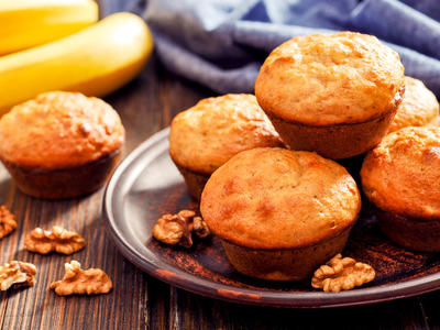 Low Fat Banana Nut Muffins