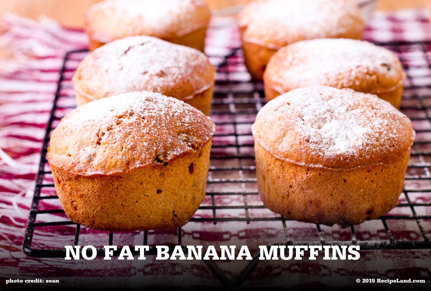 No Fat Banana Muffins