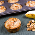 Super Moist Banana Black Walnut Muffins