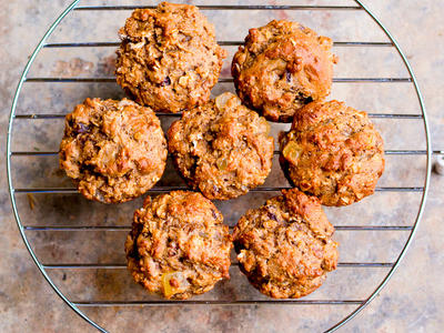 Oatmeal Banana and Fruit Muffins
