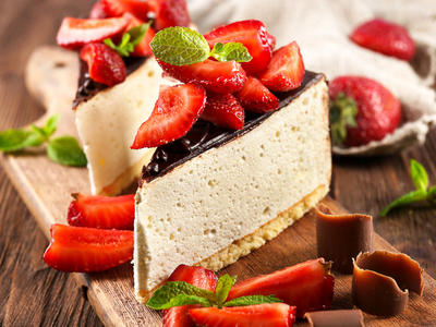 Debbie's White Chocolate Cheesecake