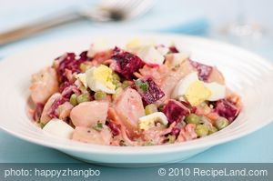 Russian Beet and Potato Salad