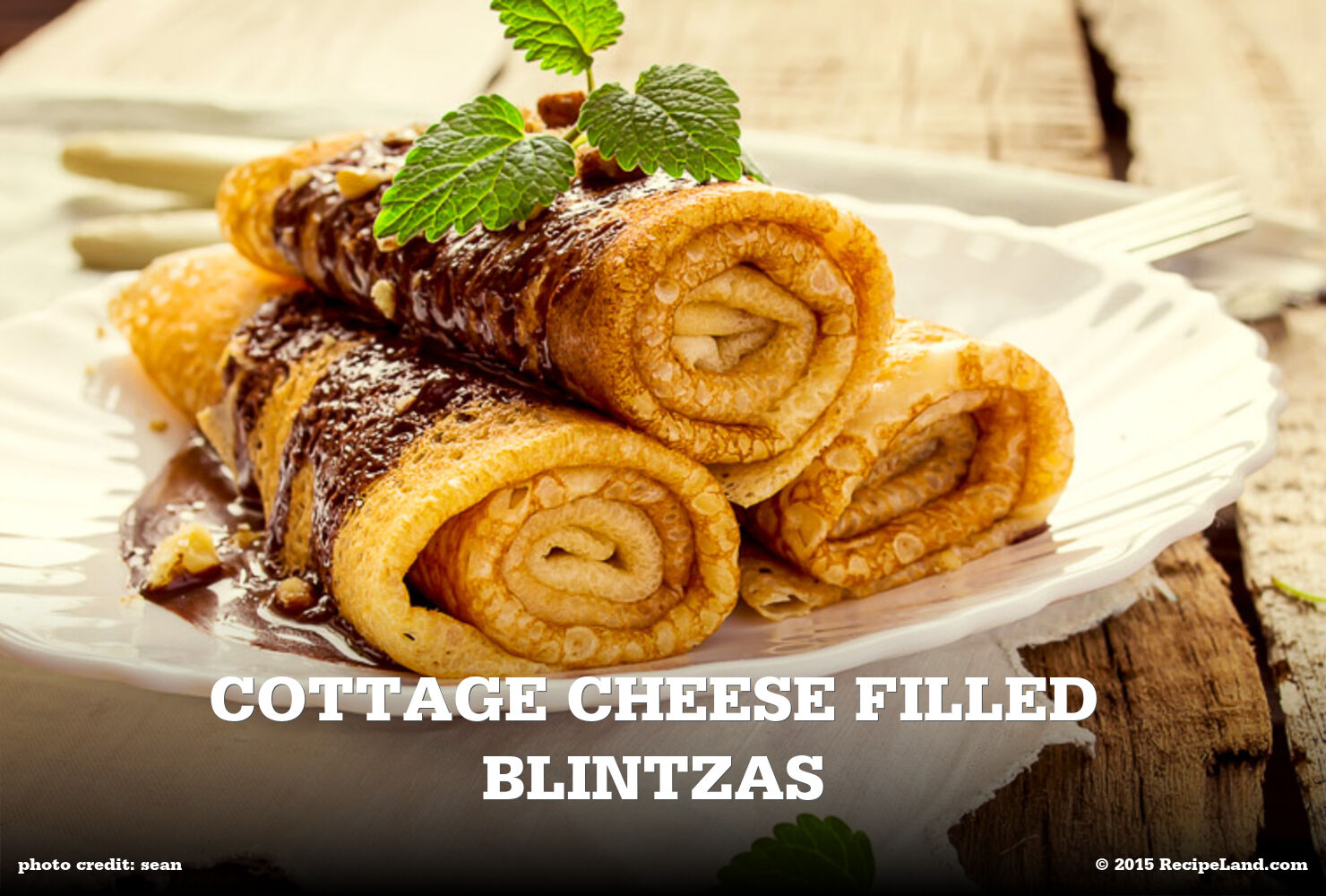 Cottage Cheese Filled Blintzas
