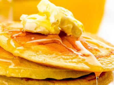 Apple Oat Breakfast Pancakes