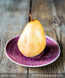 Juice Poached Pears