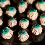 Make some spooky eyeballs for your Halloween party, they are quite tasty!