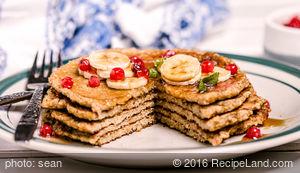 Breakfast Oatmeal Buttermilk Pancakes