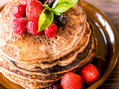 Buckwheat Oat Pancakes for One