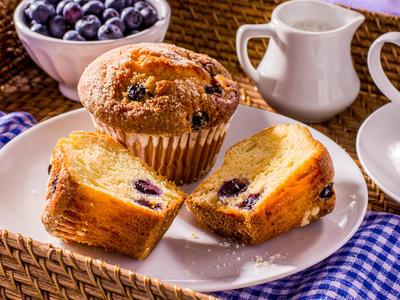 Breakfast Blueberry or Cherry Muffins