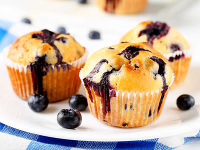 Fresh and Delicate Blueberry Muffins