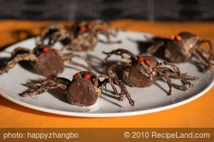 Halloween Chocolate Spiders