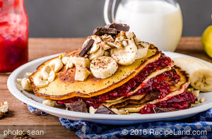 Breakfast Sourdough Maple Pancakes
