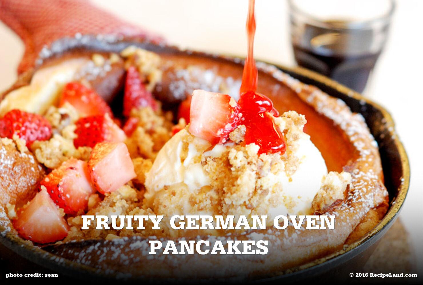 Fruity German Oven Pancakes