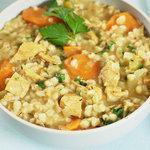 Leftover Turkey Barley Soup