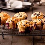 Moist Breakfast Blueberry Muffins