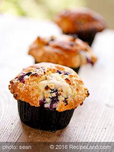 Quick Blueberry Ice-cream Muffins