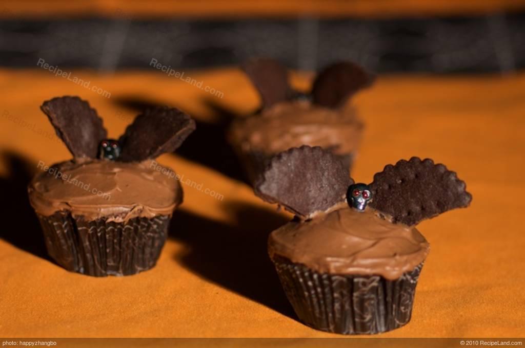 Halloween Bat Cupcakes.Halloween Bat Cupcakes Recipe Recipeland
