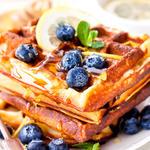 Applesauce Cinnamon Waffles