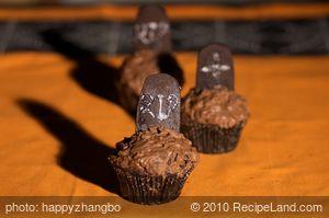 Halloween Grave Yard Cupcake