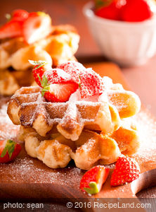 Nutty Maple Waffles