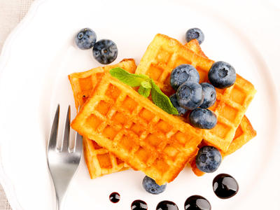 Orange Yeast Waffles