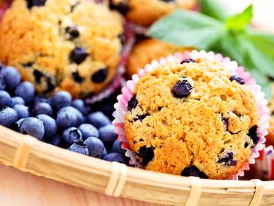 Prize-winning Lemon Blueberry Muffins